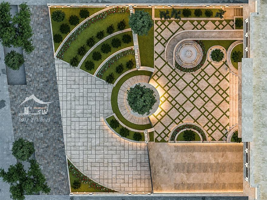 محوطه سازی در شیراز